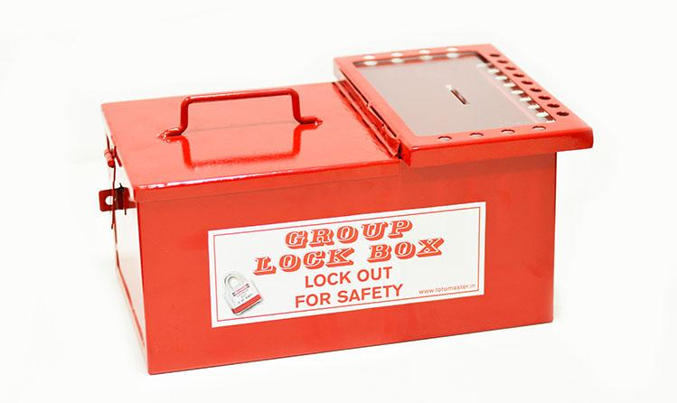 Loto Master - Group Lockout Box - Metal with Lid