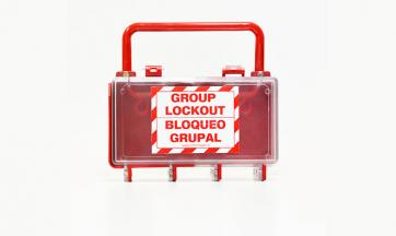 Group Lockout Box - Plastic
