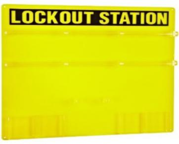 Lockout Station for 36 Padlocks
